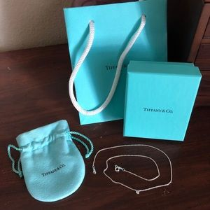 Tiffany & Co. diamond pendant necklace